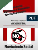 Movimiento Social Antitaurino y Movimientos Obreros en Colombia
