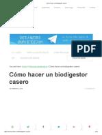 Cómo Hacer Un Biodigestor Casero