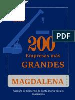 Las 200 Empresas Mas grandes Del Magdalena 2017-2018