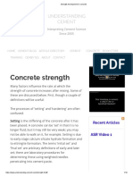 Strength Development in Concrete