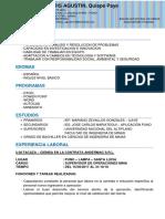 Curriculum Vitae Boris Agustin q.