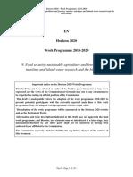 Agri H2020 WP 2018 - Evropski Fondovi