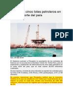 Adjudican cinco lotes petroleros en la costa norte del país.docx