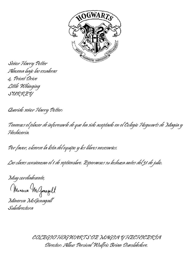 Carta Hogwarts Negro Docx