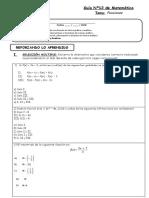 Guía Nº12- Repaso de Funciones