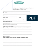 Franchise Application Form