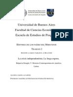 La crisis independentista; La larga espera. (Resumen) - Halperin Donghi, Tulio. Historia Contemporánea de América Latina.