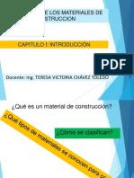 Clase 1- 2016-2-Tecnología de Los Materiales de Construccion