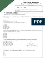 Guía Nº16 - Función Afín - Lineal - Cuadrática - Raíz Cuadrada
