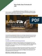Cara Blokir Situs Pada Jam Tertentu Di Router Mikrotik