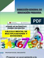 ATENEO-2° CICLO-CALCULO MENTAL DE MULTIPLICACIONES Y DIVISIONES