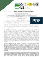 Insieme in Rete per Sviluppo Sostenibile-Doc Programmatico PGT e Pedemontana agg. 08/08