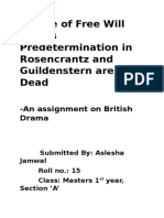 Theme of Free Will Versus Predetermination in Rosencrantz and Guildenstern Are Dead (1)
