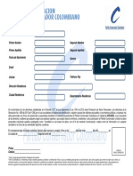 Formato de Afiliacion Individual Horizontal