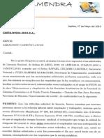 CARTA N°034.2019-C.A.