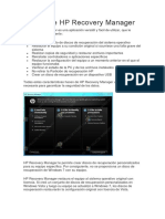 Acerca de HP Recovery Manager