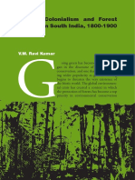 VM Ravi Kumar Green Colonialism and Forest Policies in South India 1800 1900