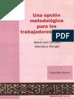 Libro Opcion Metodologica Para Los Trabajodres Sociales
