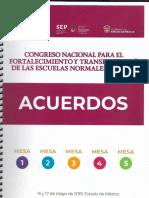 Acuerdos Congreso Nacional de Escuelas Normales