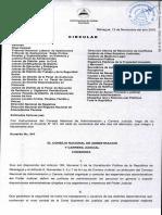 Circular 121118 sobre Acuerdo No. 541