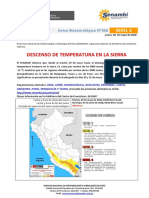SENAMHI - Aviso 056_2018_DescensoTemperatura en La Sierra