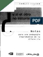 Skliar - Y Si El Otro No Estuviera Ahi (1)