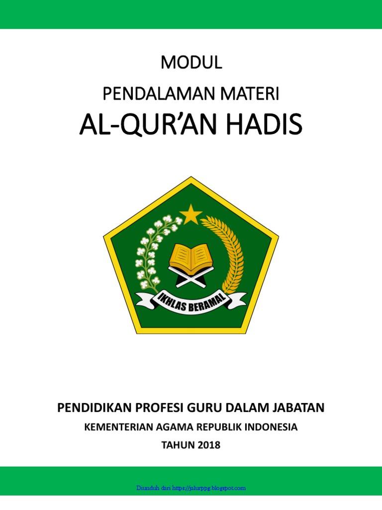 Modul Ppg Qur An Hadits Jalurppg Blogspot Com Pdf
