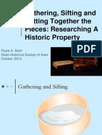Researching Your Historic Property Paula ILA 2010