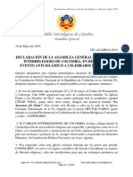 Rechazo a evento anti-islámico a celebrarse en Bogotá
