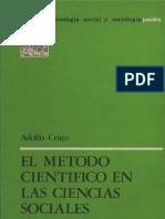 CRITTO, Adolfo - El Método Cientifico en Las Ciencias Sociales