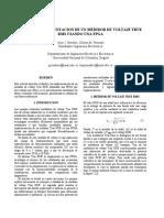 Diseño convertidor para medición true rms
