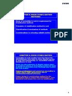 6.1 Rock Stabilisation Methods