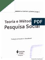 Teoria e Método Da Pesquisa Social - Análise Do Discurso - SOMEKH e LEWIN