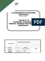 T09-G-Conexión, Amarrado de Bobinas, Pruebas Preliminares y BarnizadoTERMINAR