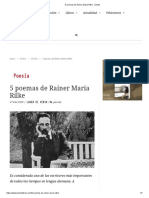 5 Poemas de Rainer Maria Rilke - Zenda