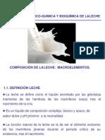 Composicion de La Leche Macroelementos, Bloque III