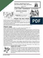 Sesion LOS VIAJES DE PABLO (4º Grado)