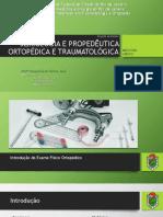Semiologia e Propedêutica Ortopédica e Traumatológica - Monitoria 2019-1