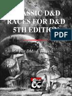Classic D&D Races for D&D 5th Edition