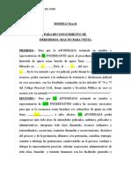 MODELO Nro. 11- Reconocimiento de Herederos, No Venta