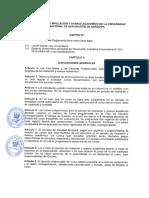 Reglamento de Nivelación y Avance Académico de La UNSA