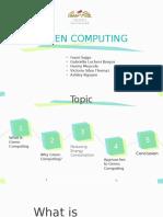 Green Computing MIS