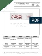 1.- Plan Anual de SSO Transportes Alonso 2019