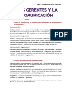 Los Gerentes y La Comunicacion