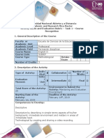 Activity Guide and Evaluation Rubric - Task 1 - Course Recognition