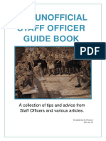 2018 Unofficial Staff Officer Guide Book