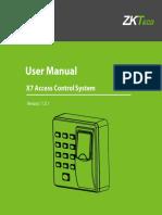 X6 Access Control System User Manual EU