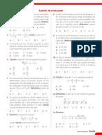 REFUERZO Ecuación de Primer Grado
