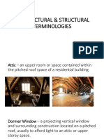 Architectural Structural Terminologies