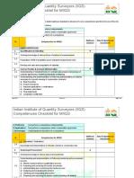 Competencies Checklist for MIIQS - Dec 2015 Rev 2